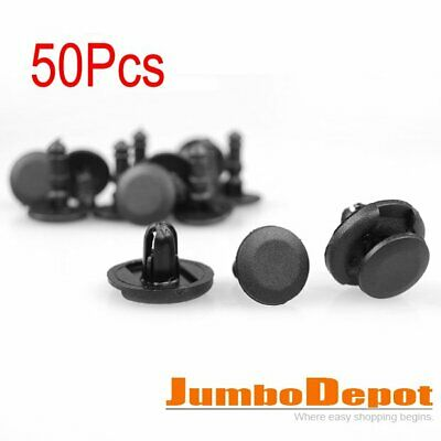 50Pcs 7mm Hole Push Type Bumper Fender Liner Fastener Retainer Clips For Toyota