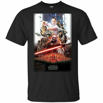 STAR WARS The Rise of Skywalker - Official Poster T-Shirt Black-Navy Mens-Womens