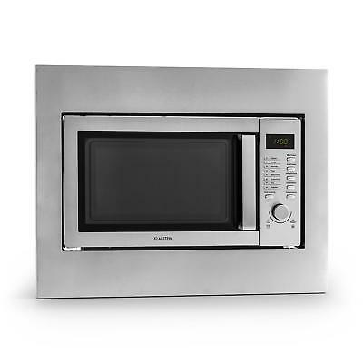 Four micro ondes multifonction design acier inox 23 litres grill 1000w timer 1h