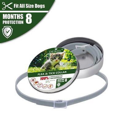 Tick & Flea Collar Dog Cat Anti Insect Mosquitoes Waterproof 8 Months Protection