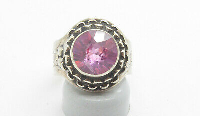Post Medieval period Silver ring with corundum gemstone. 18 Century