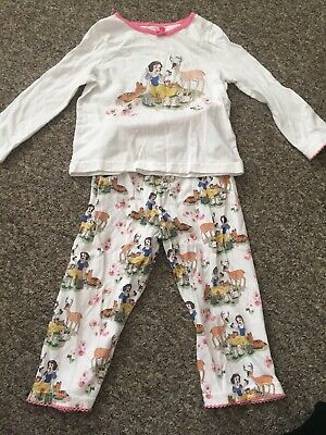 Disney Girls Cath Kidston Snow White Pyjamas Cute 1-2 Years Gorgeous