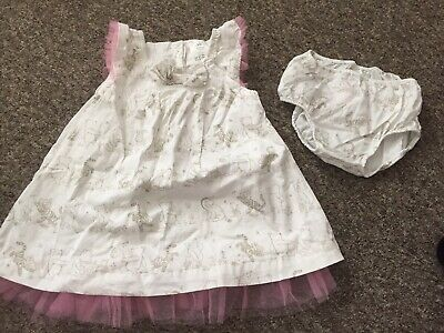 Disney Store Baby Girl Classic Winnie The Pooh Party Dress 12-18 Months Gorgeous