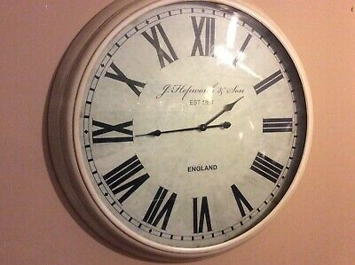 "Next Stunning Extra Large 36"" French /Shabby Chic Design Glass Front Wall Clock"