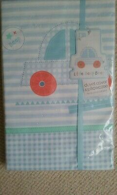 Duvet Cover & Pillowcase  For A Cot Or Cot Bed - Little Beep Beep