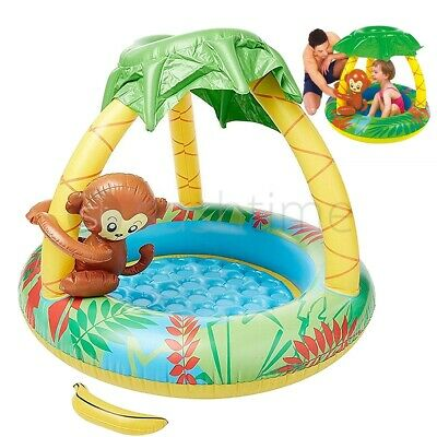 Inflatable Monkey Baby Pool Toddler Paddling Pond Swimming Kids Summer Garden