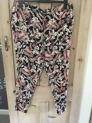 Floral Print Loose Fit Causal Trousers NEW LOOK Maternity Size 18