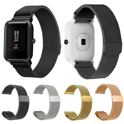 For Huami Amazfit Bip  Stainless Steel Milanese Magnetic Band Wristband Strap