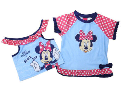 Disney Minnie Mouse Baby Girls Size 4T Toddler Cover-up/Swim Top 2-Pc Set, Pink