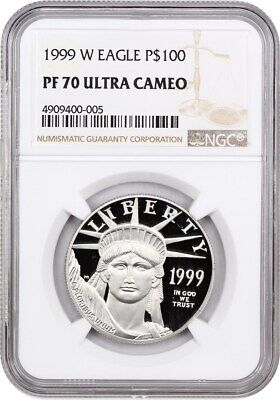 1999-W Platinum Eagle $100 NGC PR 70 UCAM - Proof American Platinum Eagle