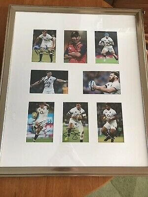 8 Signed - England Rugby - Six Nations Photos Autographs Framed Six Nations