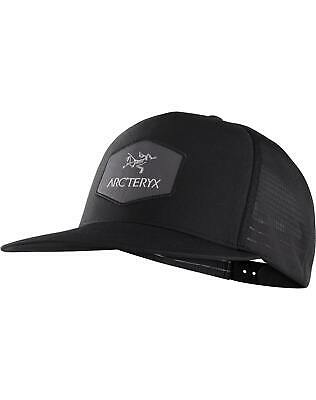 65f5cd7868a Arcteryx Hexagonal Trucker Hat Black Snapback