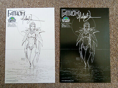 Michael Turner's Fathom # 0B & 0C Wizard World LA 2008 Signed Variants Aspen
