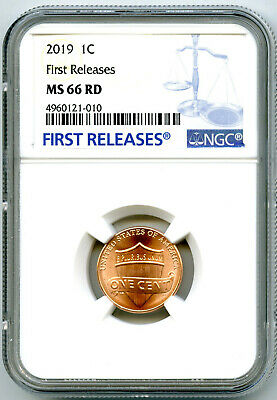 2019 P Lincoln Union Shield Penny Ngc Ms66 First Releases Cent Rare Blue Label