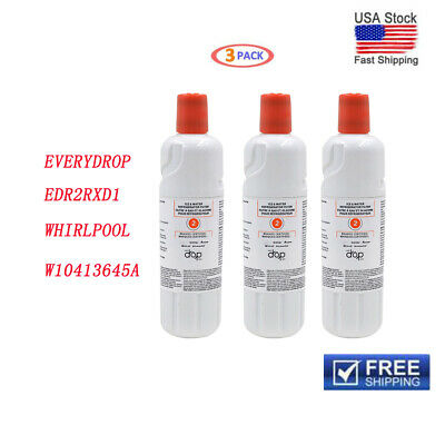 3PACK OEM Every Drop-EDR2RXD1-W10413645A-Whirlpool Ice & Water Filter Cartidge
