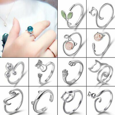 Cat Moon Paw Gold Silver Charm Knuckle Rings Finger Engagement Party Fashion