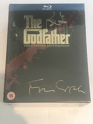 The Godfather Trilogy Coppola Restoration (Blu-ray 2008, 3-Disc Set Box-Set) New
