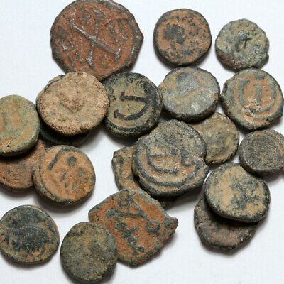 Lot Of 20 Byzantine Bronze Coin - Uncleaned - Pendanummium