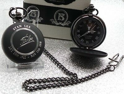 Signed STAN LEE Pocket Watch and Chain LUXURY FULL HUNTER Autographed Tribute