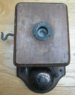 Vintage Early House or GPO Wall Telephone and Early earpieces receivers phones