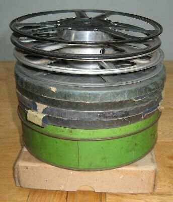 9.5mm Films Pathe Projector Reels Spools Home Movies, Notched Chaplin, etc.