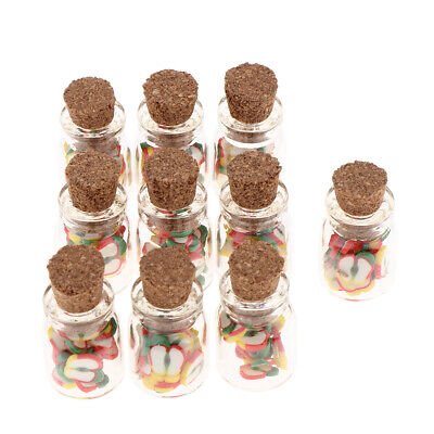 10pcs 1/12 Dollhouse Miniature Jars Food Model for Kitchen Decoration -Apple