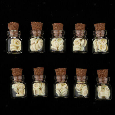 10pcs 1/12 Dollhouse Miniature Jars Food Model for Kitchen Decoration Banana
