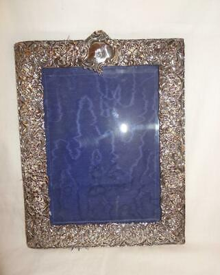 Large Late Victorian Solid Silver Photograph Frame - Coronet Monogram
