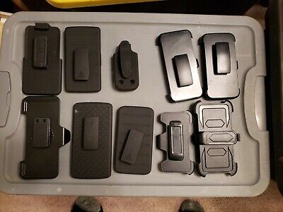 (10-pack Lot)(mixed sizes)Cellphone Belt Plastic Clips...lot#2