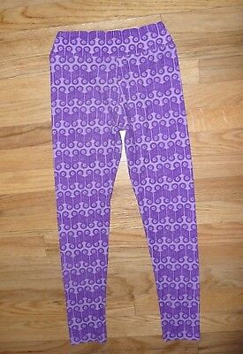LuLaroe Purple Geometric Print leggings Super Soft stretch pants Size Tween