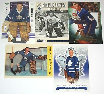 Johnny Bower Toronto Maple Leafs 10 Card Lot (Mint Condition – No Duplicates)!!