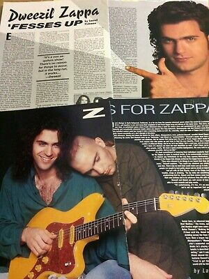 Dweezil Zappa, Lot of TWO Two Page Vintage Clippings