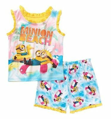 Girls~Licensed DESPICABLE ME MINIONS Pyjamas~New~Size 5