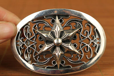 110g Fine S925 solid Silver cool Valuable star fastener Buckles statue