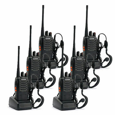 6 X Baofeng BF-888S Walkie Talkie 2 Two Way Radio Handheld Long Range GMRS