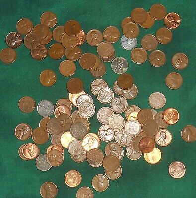 Unsearched lot 2 rolls of Wheat Cents Penny teens - 1958 - Nice collection #45