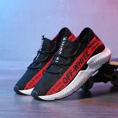 Mens Running Off White Trainers Casual Lace Gym Walking Boys Sports Shoes Ladies