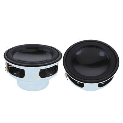40mm 4Ohm Full Range Audio Speaker PU Round+Rubber Edge Replacement Speaker