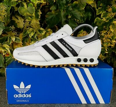 16f4ec5e1d61e BNWB   Genuine Adidas Originals ® LA Trainer OG White Black Trainers UK  Size 8
