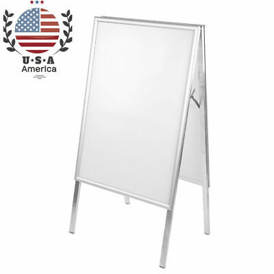 A1 Aluminum Alloy Snap Frame Poster Display Stand Double Sided A-Board Holder US