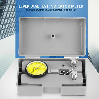 Professional Lever Dial Test Indicator Meter Tool Kit Precision 0.01mm Gage+Case
