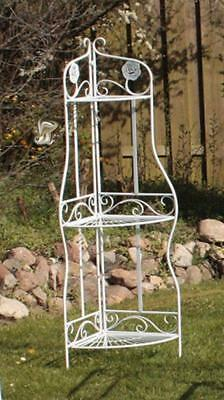 G2374: Romantic Corner Shelf Rose Rack in Country House Style, Whatnot, Balcony