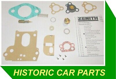 SERVICE KIT for ZENITH 34VN Carburettor on VOLVO AMAZON 120 Series B16 1957-64