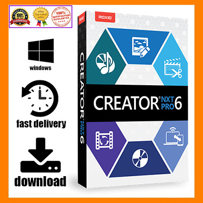 Roxio Creator NXT PRO 6 / / Lifetime Activator / Fast Delivery