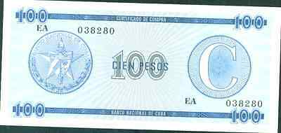 CARIBE. FOREIGN EXCHANGE CERTIFICATE 100 PESOS. UNC CONDITION. VERY SCARCE. 1a