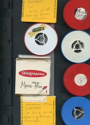 Job Lot Of 7x Vintage 8mm Cine Film  Amateur Home Movies From 1970's America