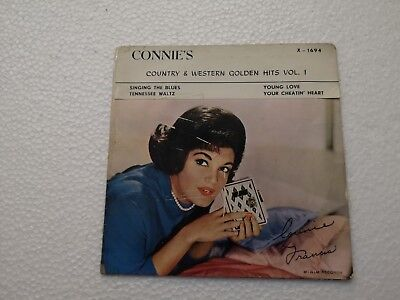 Connie Francis Country & Western Golden Hits Vol 1 Hong Kong 60's MGM EP  RARE
