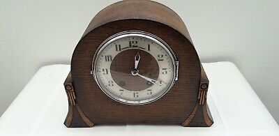 Bravingtons Renown Of London Art Deco Beautiful Chiming Mantle Clock Working