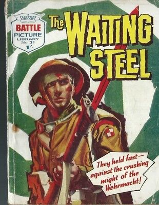 The Waiting Steel,battle Picture Library,no.31,war Comic,1961