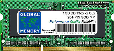 1gb Ddr3 1066mhz Pc3-8500 / 1333mhz Pc3-10600 204-pin Sodimm